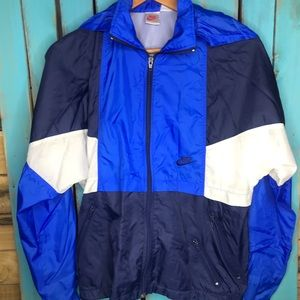 Vintage 90s Nike full zip rain jacket size small